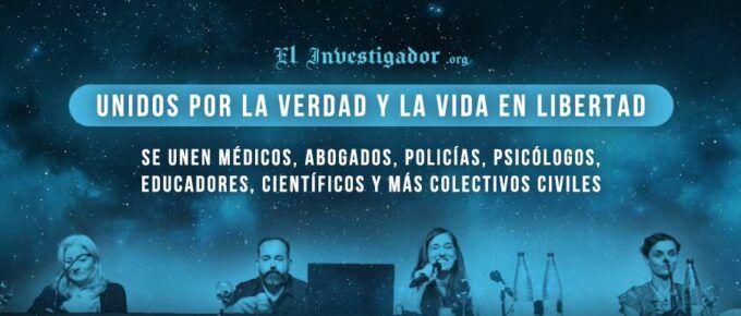 Rueda de prensa histórica en España: Se unen por la verdad y la libertad ciudadana médicos, abogados, policías, psicólogos, educadores, científicos y colectivos civiles